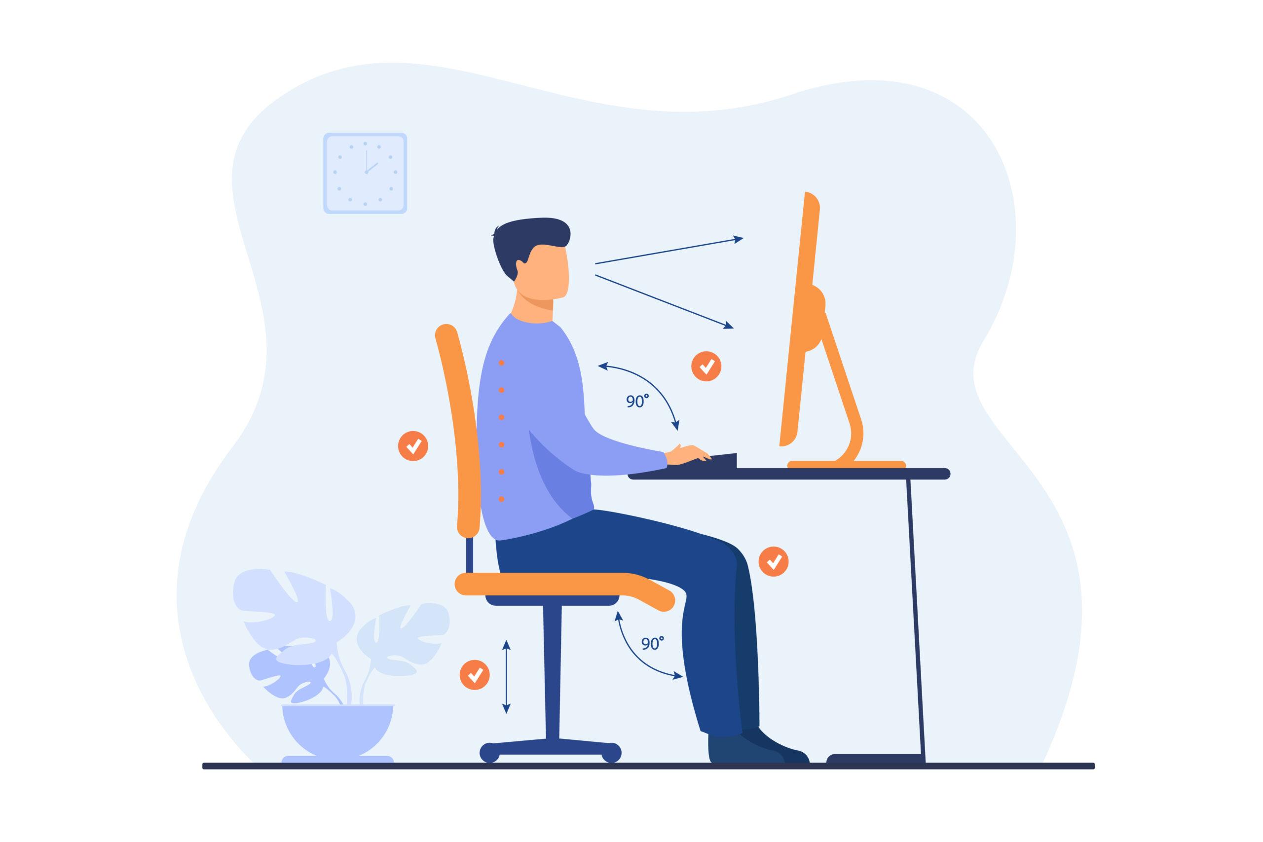 وضعية الجلوس الصحيح